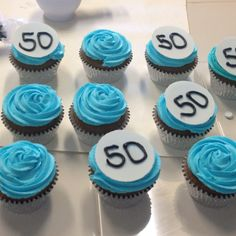 Cakes by Chelsey - 50th birthday cupcakes