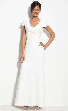 Cheap Trendy V-Neck Short-Sleeve Floor-Length Wedding Dress - the Best Wedding Dresses Online Wholesaler and Retailer