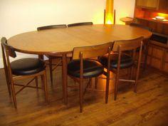 Vintage Retro Danish Design Oval Fresco Larsen Teak G-Plan Dining Table.....VGC | eBay