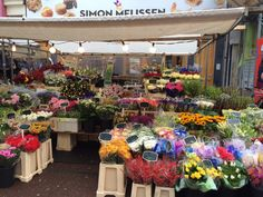 Albert Cuyp Market (large farmers market. food stalls flowers, and cheap knick knacks) - Amsterdam, The Netherlands
