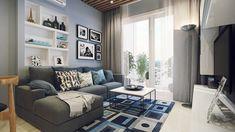 cozy apartment living room design – Home 4 Living Cozy Apartment Decor, Small Apartment Design, Small Apartment Living, Apartment Interior, Small Apartments, Apartment Ideas, Micro Apartment, Studio Apartment, Condo Living Room