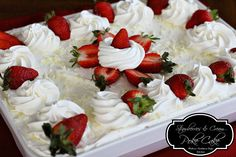 Melissa's Southern Style Kitchen: Strawberries And Cream Poke Cake