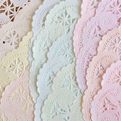 PACK 50 12 INCH Shabby Rustic Hand Dyed Paper Doilies  You