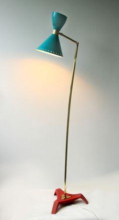 Diabolo Schirm Stehlampe Stilnovo Ära.