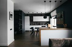 Двухкомнатная квартира ссовременным интерьером уСмольного .  Кухня