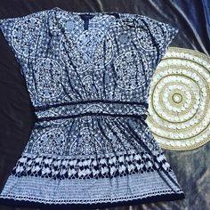 Soma Intimates Black&White V-Neck Empire Waist Short Sleeve Soft TShirt Top M  | eBay