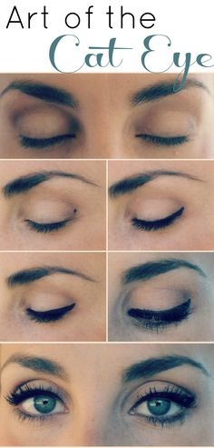 Love this cat eye! There's not too much of a dramatic swoop on the outer corner, so this look would be perfect for everyday. Plus, it really does make her eyes look bigger