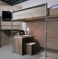 Galvanized Pipe Bed Loft