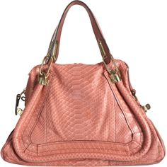 Chloe Medium Paraty Python Satchel, amazing color and snakeskin finishes mean timeless handbag!