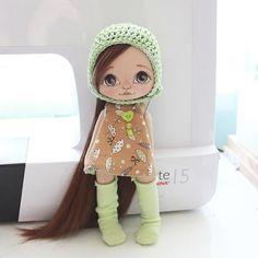 Стесняется))) #кукла #куколка #куклаолли #олли #doll #dolls #artdoll #textilldoll