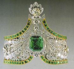 Pulsera esmeralda parte de las joyas de la corona rusa