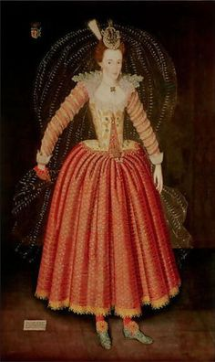 Lucy Harrington in costume for the Masque of Hymenaei, 1608