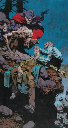 Freaks by: Bernie Wrightson. Comic Book Artists, Comic Books Art, Comic Art, Arte Horror, Horror Art, Bernie Wrightson, Jordi Bernet, Horror Pictures, Horror Comics