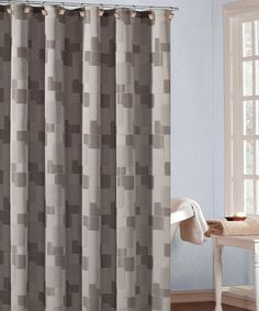 Nice, masculine, Taupe & Chocolate Kallista Shower Curtain by Duck River Textile on #zulily today!