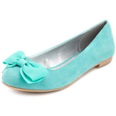 Bow-Front Ballet Flat ($23) ❤ liked on Polyvore