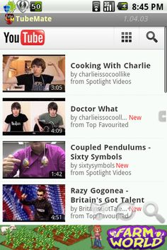 If you often watch Youtube videos with your Galaxy S3 , you've probably already found the opposite question: how to get the video or better yet how to retrieve only the sound ... You've done your research on Google but small nothing really conclusive. Do not worry Android Zone presents TubeMate    Know first that TubeMate is not on Google Play by cons it is quite available SlideMe example, and free. Once the application is downloaded, you will only have to be guided