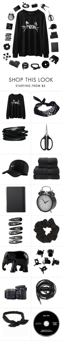 """""""Darkness Swallows You And I Can Do Nothing But Watch"""" by never-gxnna-change ❤ liked on Polyvore featuring ASOS, OXO, NIKE, Christy, Muji, Clips, Topshop, The Elephant Family, H&M and Nikon"""