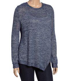 Look what I found on #zulily! Navy Striped Sweatshirt - Plus #zulilyfinds