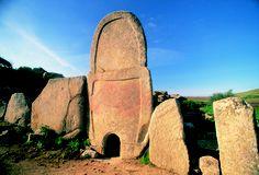 """Giant's Tomb, so called """"Tomba dei Giganti"""" outside Arzachena."""