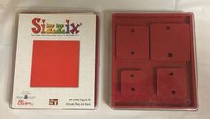 TWO Sizzix Shapes Large Original Red Dies Set of 2 Dies Makes 5 Squares #Sizzix