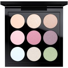 MAC Eye Shadow x 9, Pastel found on Polyvore featuring beauty products, makeup, eye makeup, eyeshadow, pastel times nine, mac cosmetics eyeshadow, palette eyeshadow and mac cosmetics