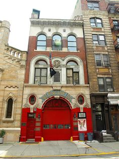 "FDNY Engine Little Italy, New York City  ""Cinquanta Cinque"" Fire House at 363 Broome Street, Manhattan NYC"