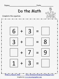 FREEBIE: Complete the equation (missing addends and sums) http://www.teacherspayteachers.com/Product/DO-the-MATH-FREEBIE-Complete-the-Equation-1150354