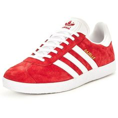 Adidas Originals Gazelle ($100) ❤ liked on Polyvore featuring shoes, fleece-lined shoes, holiday shoes, evening shoes, red shoes and retro shoes