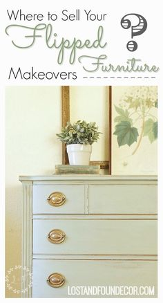 cool furniture Where to Sell your Flipped Furniture Makeovers. Great post that goes through the pros and cons of 3 different ways you can sell your painted furniture creations. Furniture Redo, Selling Furniture, Refurbished Furniture, Woodworking Furniture, Repurposed Furniture, Cheap Furniture, Rustic Furniture, Vintage Furniture, Painted Furniture