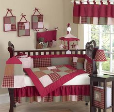 CASEY'S CABIN DESIGNER WESTERN COWBOY BABY 9 Piece Crib Set  I love these colors for the nursery!
