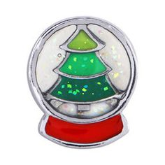 Christmas Tree Snowglobe Floating Charm for your Floating Locket Necklace  Additionally, this is not an authentic Origami Owl floating charm.  Thank