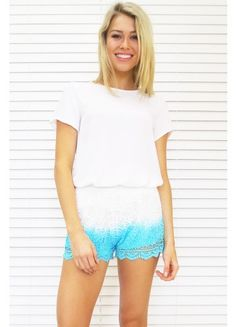 Lace Blue Dipping Shorts