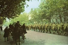 Romanian Troops marching through Odessa in 1942.