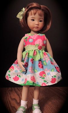 """Ladybug Plisse' Dress - fits Dianna Effner 13"""" Little Darling"""