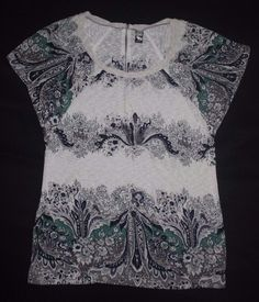 Free People Women's Floral Print T-shirt  Blouse Tunic size S/P #FreePeople #Blouse