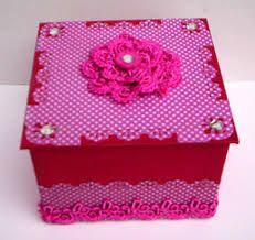 Resultado de imagem para caixas decoradas com papel reciclado
