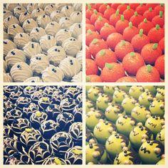 cake ballers cake balls! Get these spooky little balls in our 4 ball sampler www.cakeballers.com #thecakeballers #cakeballers #cakeballer #halloween #4ballsampler #cakeballs #cake #spooky #frankenstein #mummy #pumpkin #spiderweb #redvelvet #deathbychocolate #pumpkinspice #party #cakeballersloveboise #eatmorecakeballs #hurry #fancyfood #spooktacular #boiseidaho