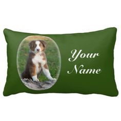 Cute Australian Shepherd puppy Lumbar Pillow #dog #dogs #doglover #doggifts