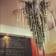 How's this for a #Christmas tree idea? Hang it upside down from the ceiling, like a chandelier! :)