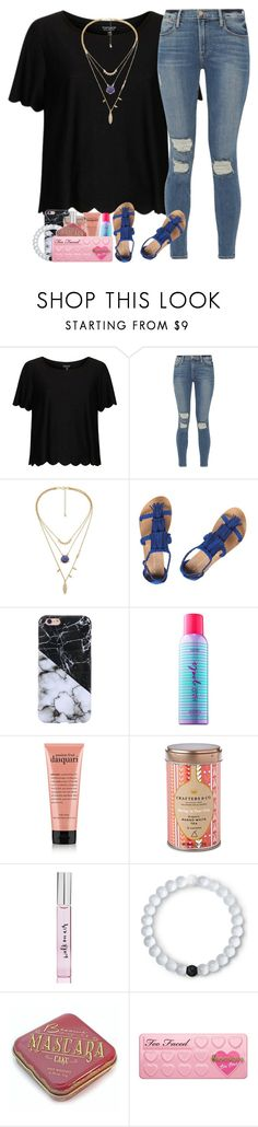 """No Man, No Cry"" by labures ❤ liked on Polyvore featuring Topshop, Frame, Dorothy Perkins, tarte, Kate Spade, Lokai and Too Faced Cosmetics"