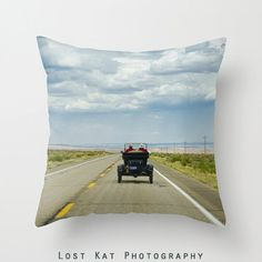 Love on Route 66 Photo Pillow Modern Cushion by lostkatphotography