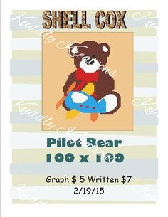 (4) Name: 'Crocheting : Pilot Teddy Bear