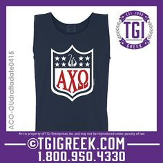 TGI Greek - Alpha Chi Omega - Date Party - Comfort Colors - Tanks - Greek T-shirts #tgigreek #alphachiomega