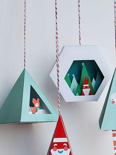 Scenic Christmas Ornaments | Smallful.com