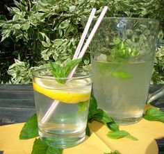 Menta szörp :: Ami a konyhámból kikerül Healthy Drinks, Healthy Recipes, Elderflower, Jar Gifts, Mojito, Preserves, Celery, Food Porn, Food And Drink