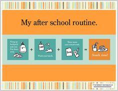 school routine chart