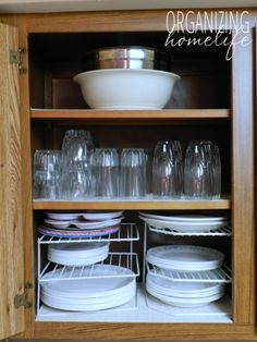 How to Organize Kitchen Cupboards | Organizing Homelife