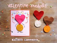DIY Felt Valentine Medals #misakomimoko, for #handmadecharlotte