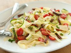 "Vegetable ""Pasta"" with Tomatoes and Herbs. Try this delicious &quot..."