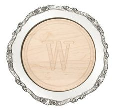 "Cutting Board Charger - 16"" Round Victorian Rim Charger"